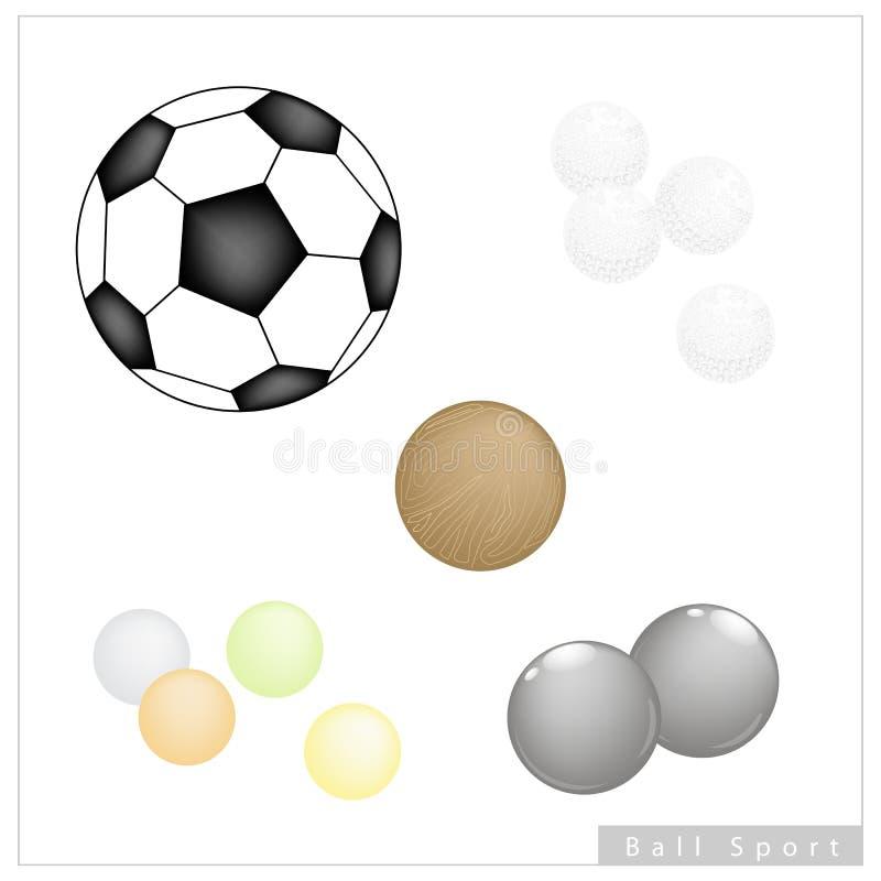 Insieme delle palle differenti di sport su fondo bianco royalty illustrazione gratis