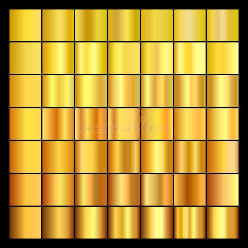 Insieme delle pendenze dell'oro Raccolta degli ambiti di provenienza dell'oro royalty illustrazione gratis