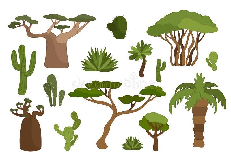 Insieme delle piante illustrazione vettoriale