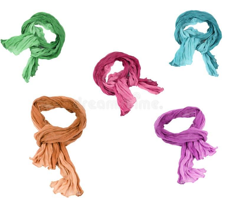 Insieme delle sciarpe del cotone immagine stock