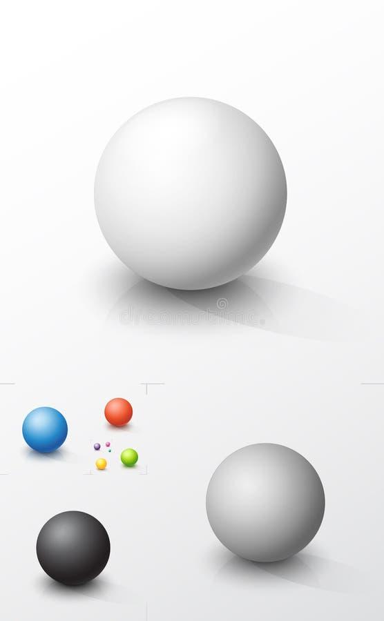Insieme delle sfere colorate fotografia stock