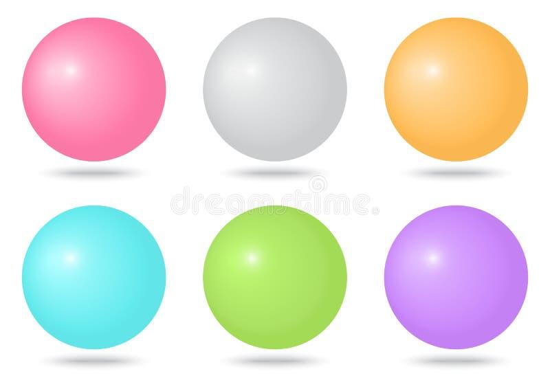 Insieme delle sfere variopinte Illustrazione di vettore illustrazione vettoriale