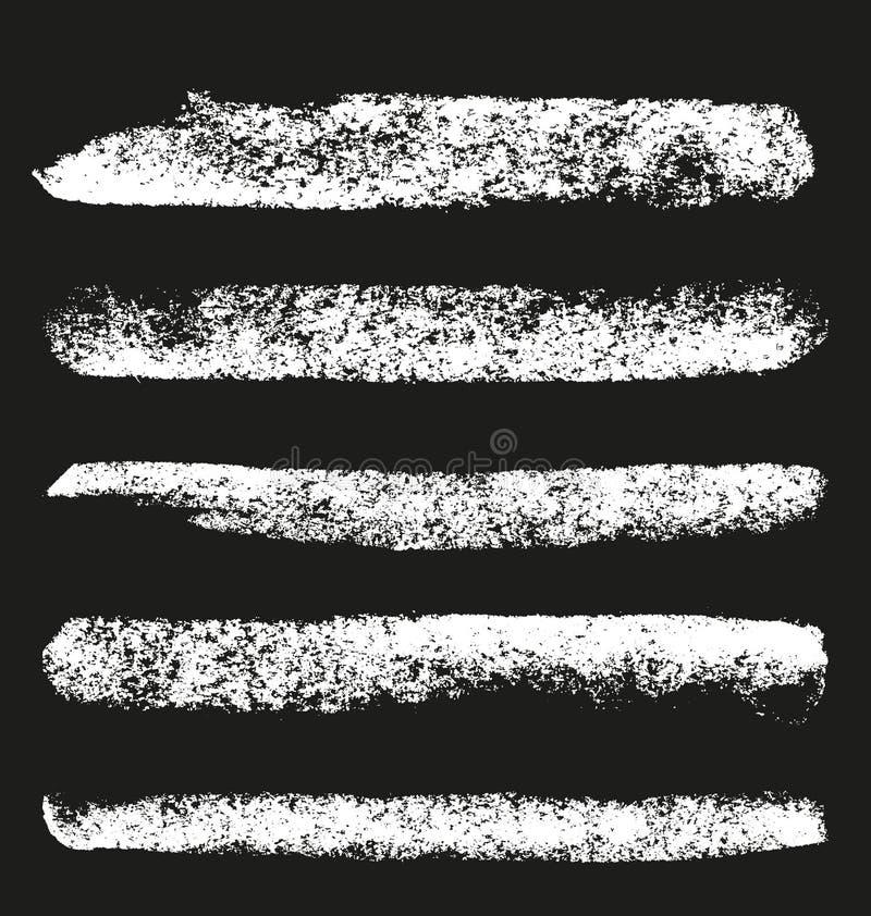 Insieme delle spazzole del gesso di lerciume illustrazione vettoriale