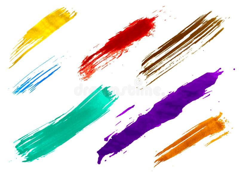 Insieme delle spazzole dell'acquerello illustrazione di stock