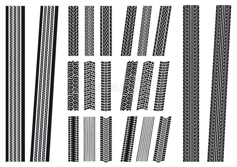 Insieme delle stampe del pneumatico illustrazione vettoriale