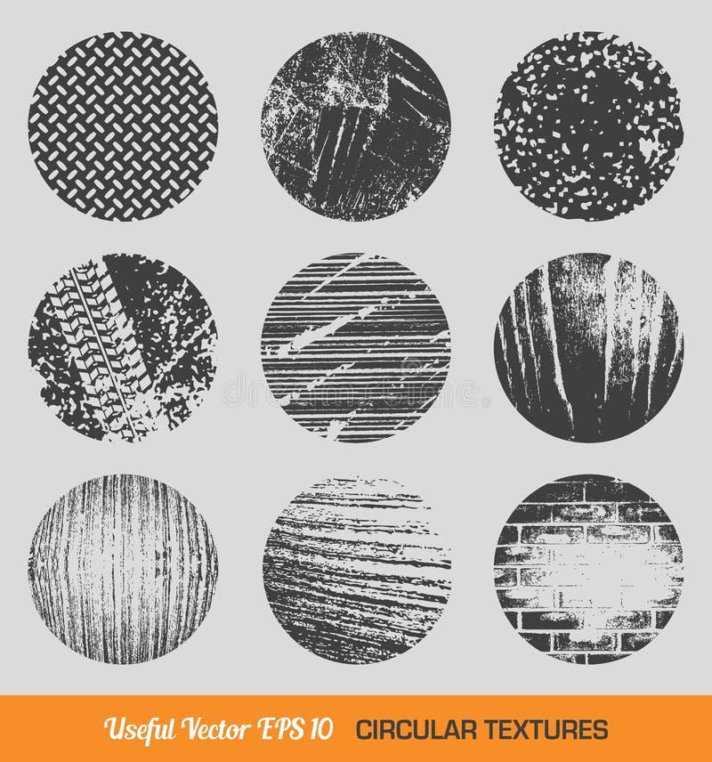 Insieme delle strutture circolari d'annata di vettore illustrazione di stock
