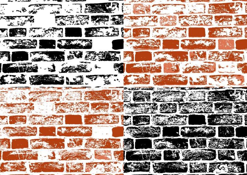 Insieme delle strutture del muro di mattoni di lerciume royalty illustrazione gratis