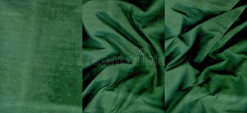 Insieme delle strutture della pelle scamosciato di verde di calce immagini stock