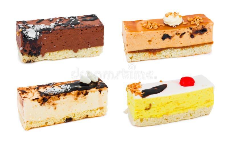 Insieme delle torte fotografia stock libera da diritti