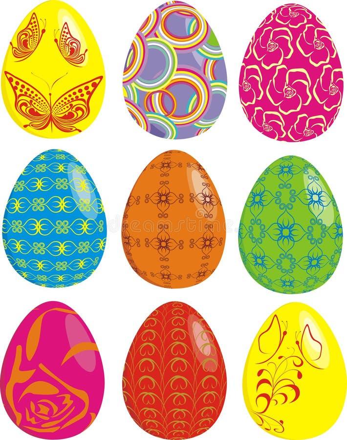 Insieme delle uova di Pasqua illustrazione di stock