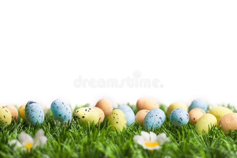 Insieme delle uova di Pasqua variopinte fotografia stock