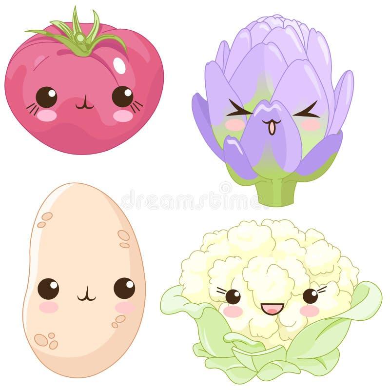 Insieme delle verdure royalty illustrazione gratis