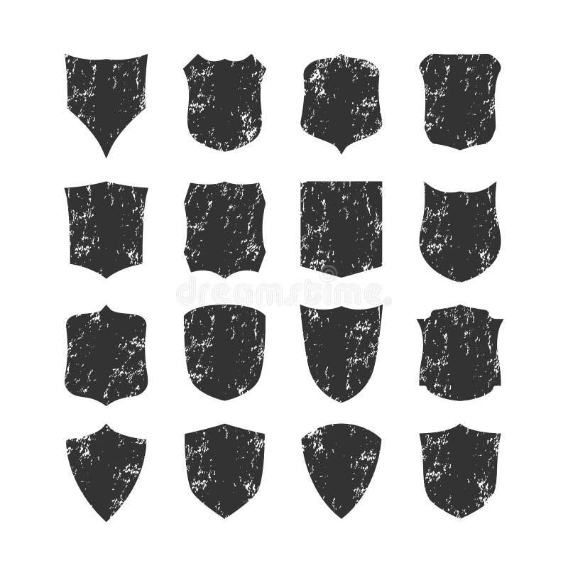 Insieme dello spazio in bianco, lerciume, schermi classici royalty illustrazione gratis