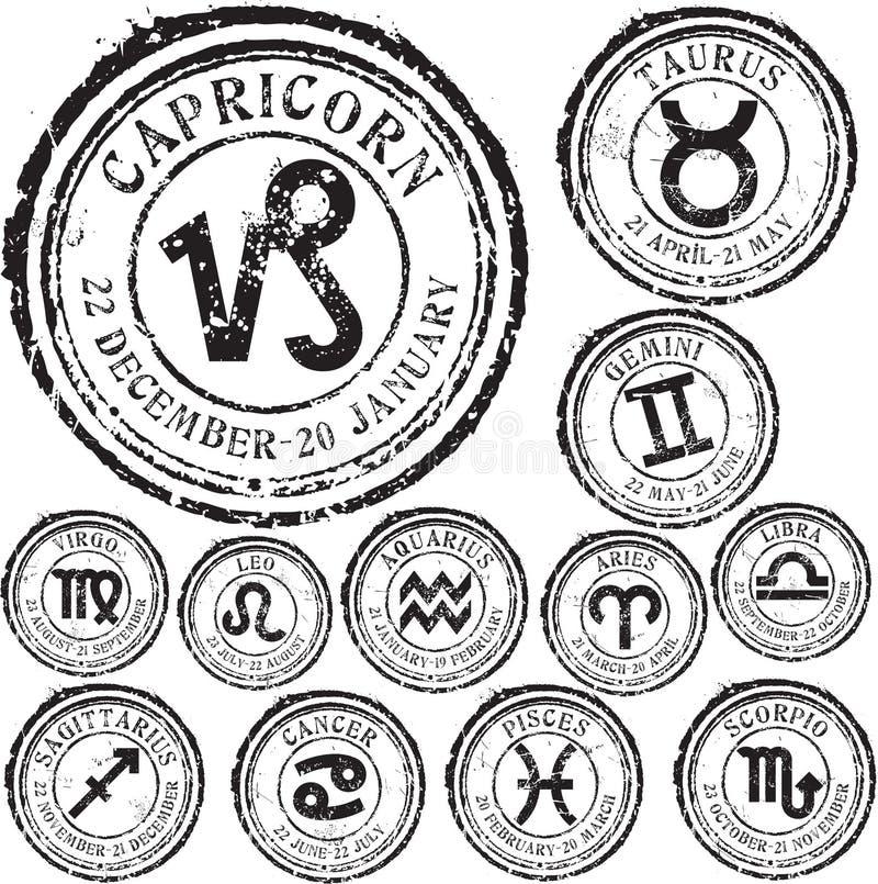 Insieme dello zodiaco royalty illustrazione gratis