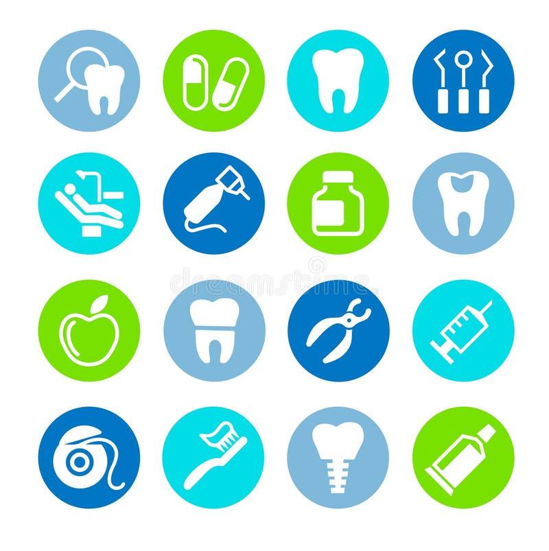 Insieme dentario dell'icona di web illustrazione vettoriale