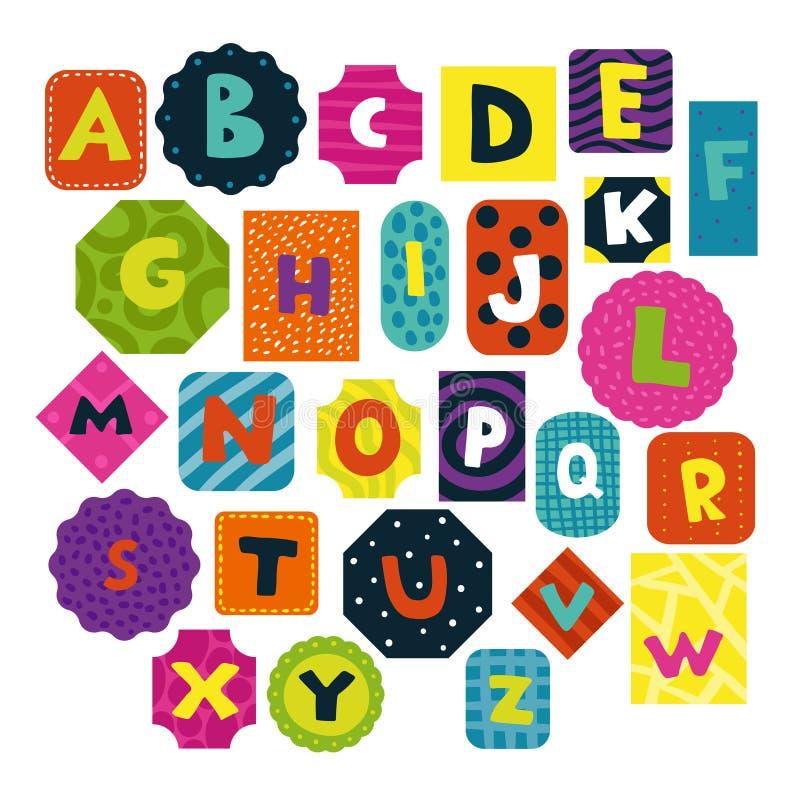 Insieme di alfabeto dei bambini royalty illustrazione gratis