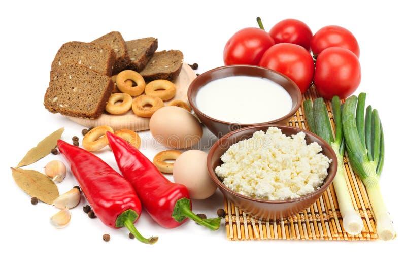 Insieme di alimento dietetico immagini stock