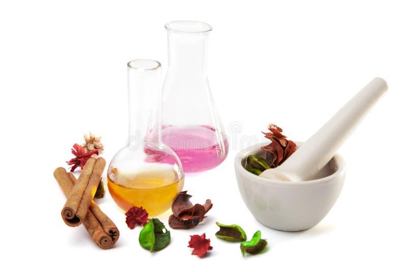Insieme di Aromatherapy isolato fotografia stock