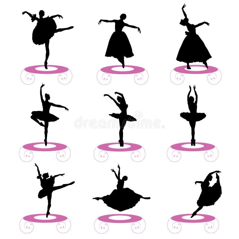 Insieme di balletto royalty illustrazione gratis