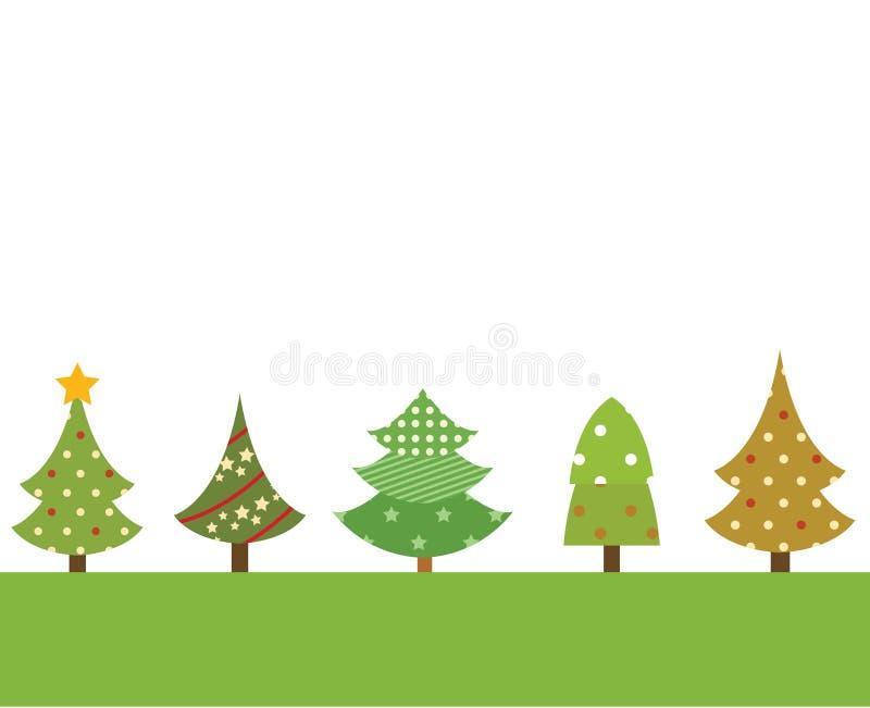 Insieme di bello albero di Natale illustrazione vettoriale
