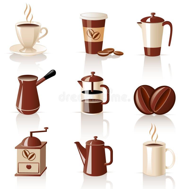 Insieme di caffè illustrazione di stock