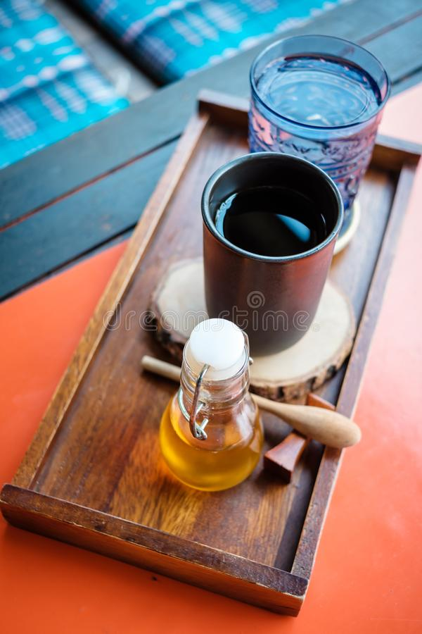 Insieme di caffè nero fotografia stock