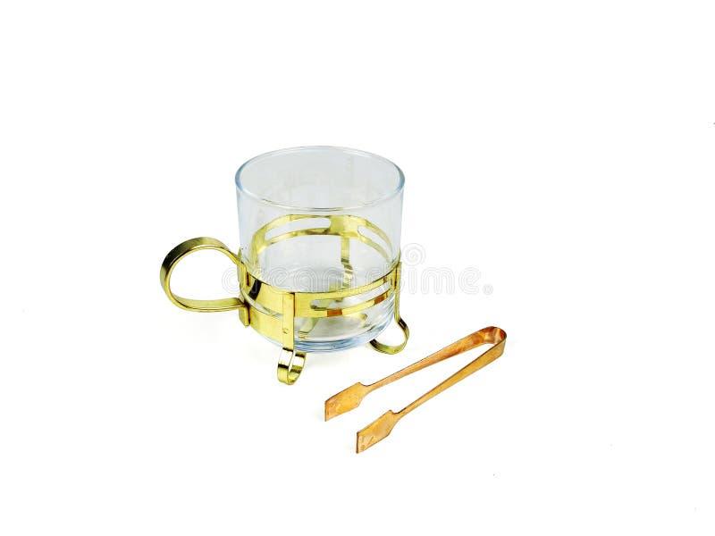 Insieme di cinese delle tazze di tè su fondo bianco fotografia stock