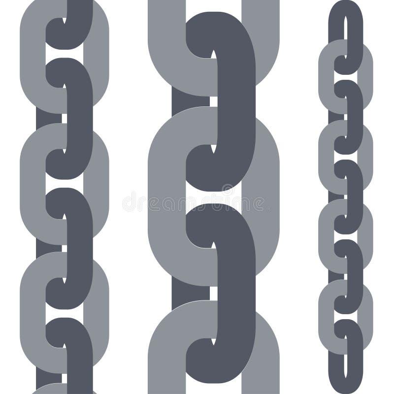 Insieme di collegamenti a catena illustrazione di stock