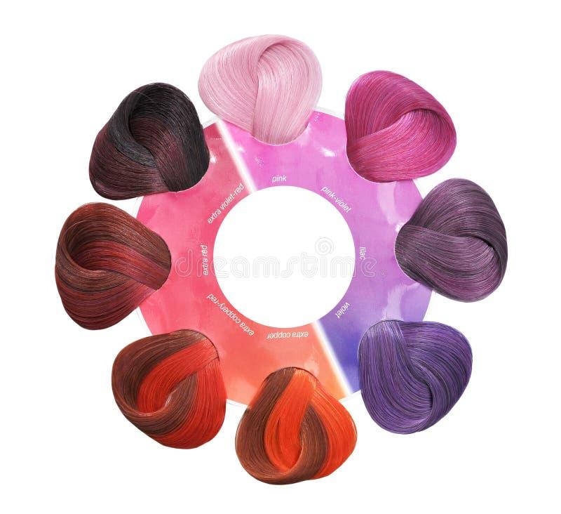 Insieme di colori dei capelli tinte immagine stock - Immagine di terra a colori ...