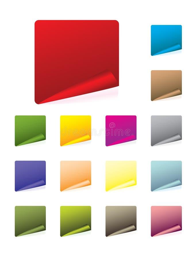 Insieme di contrassegno Colourful illustrazione vettoriale