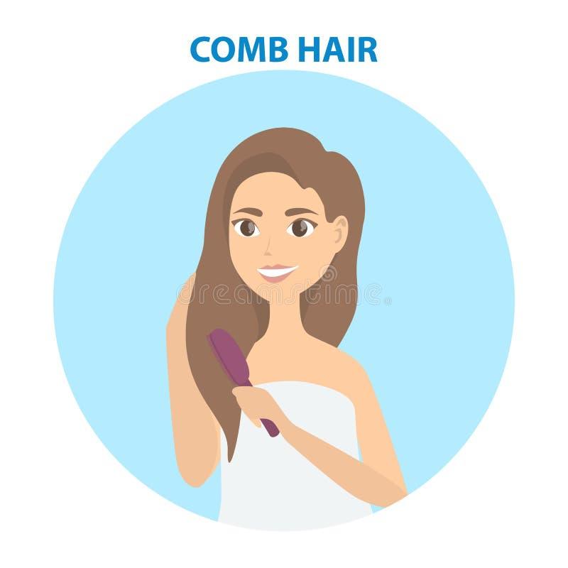 Insieme di cura di capelli royalty illustrazione gratis