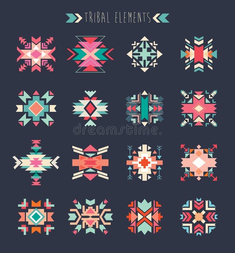 Insieme di elementi tribale illustrazione vettoriale
