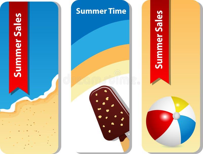 Insieme di estate illustrazione di stock