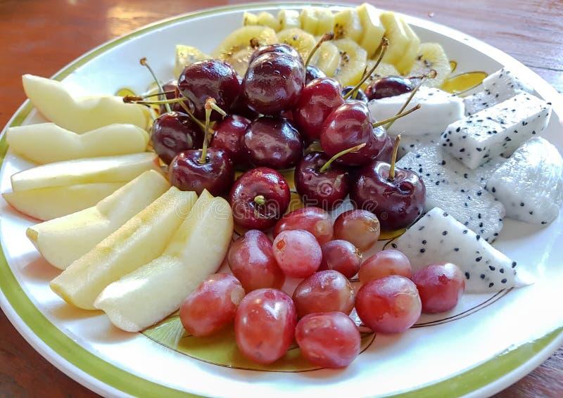 Insieme di frutta fresco fotografie stock