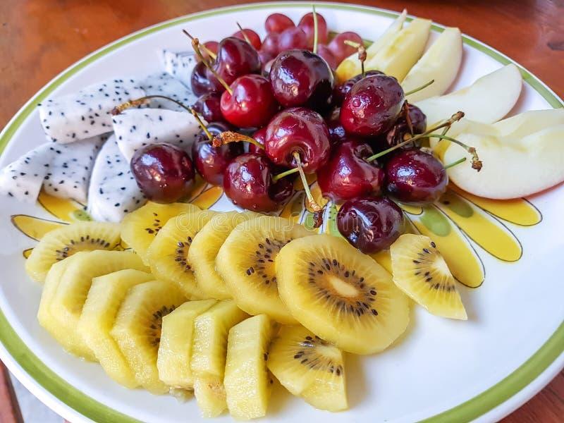 Insieme di frutta fresco fotografia stock