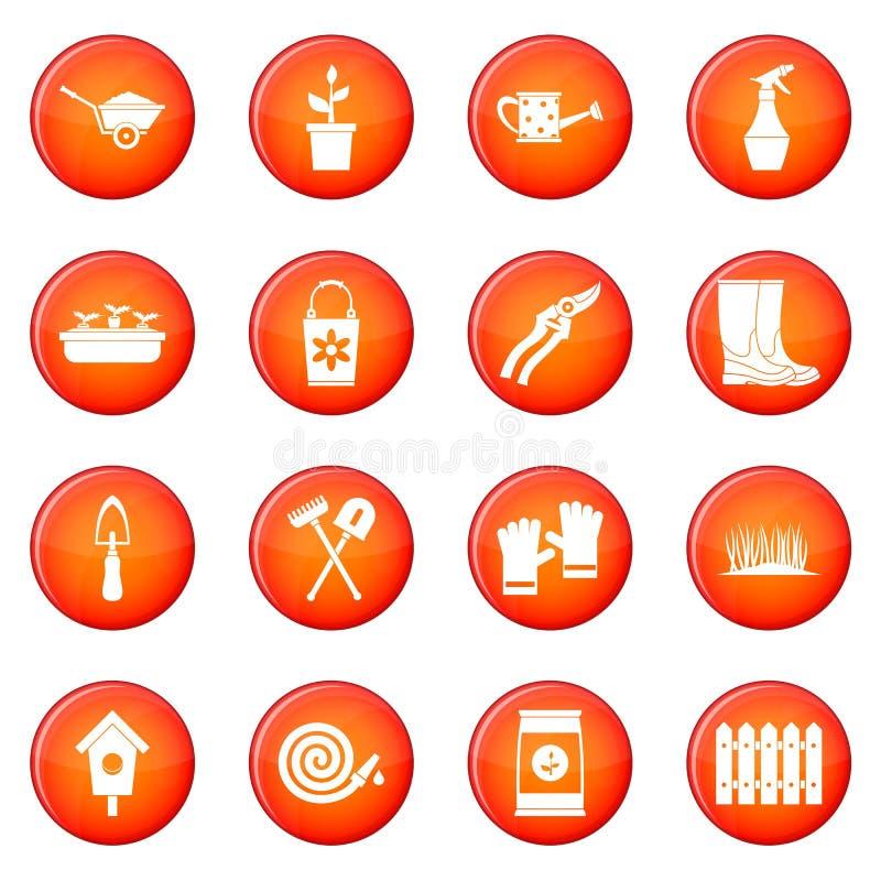 Insieme di giardinaggio di vettore delle icone royalty illustrazione gratis