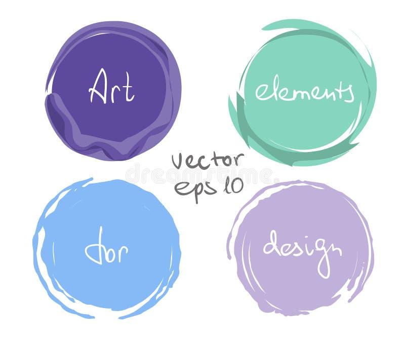 Insieme di goccia della pittura del cerchio royalty illustrazione gratis