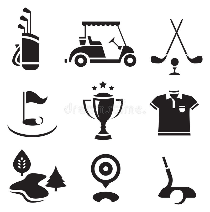 Insieme di golf royalty illustrazione gratis