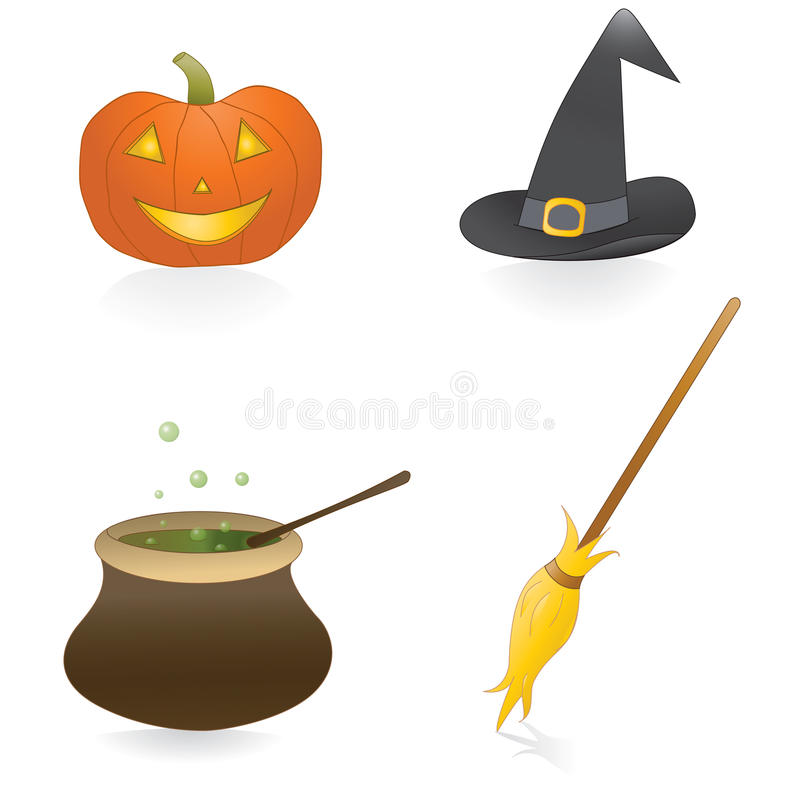 Insieme di Halloween illustrazione di stock