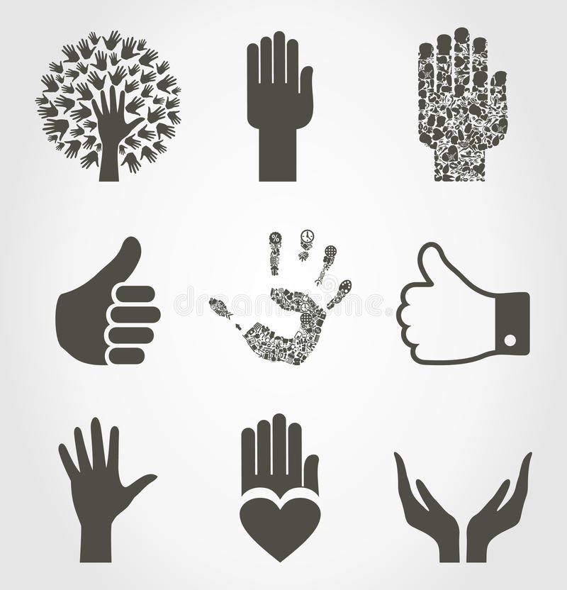 Insieme di hands4 illustrazione di stock