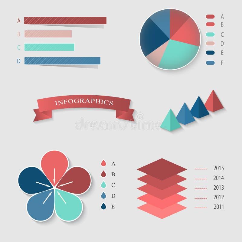 Download Insieme di Infographics illustrazione vettoriale. Illustrazione di nastro - 55365018