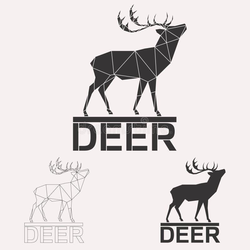 Insieme di logo dei cervi royalty illustrazione gratis