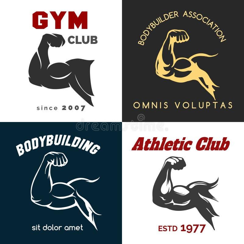 Insieme di logo del centro di forma fisica royalty illustrazione gratis