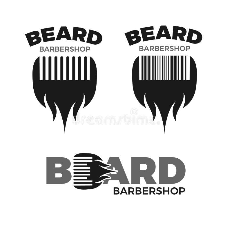 Insieme di logo del parrucchiere illustrazione vettoriale