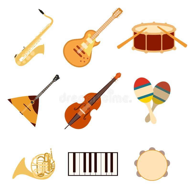 Insieme di musica icons3 illustrazione vettoriale
