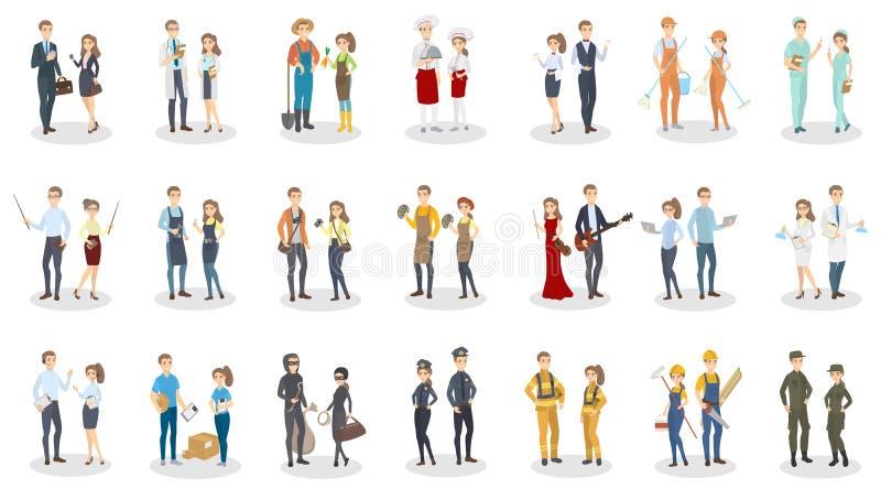Insieme di occupazione della gente illustrazione di stock