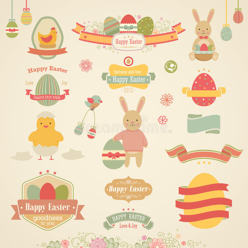 Insieme di Pasqua illustrazione vettoriale