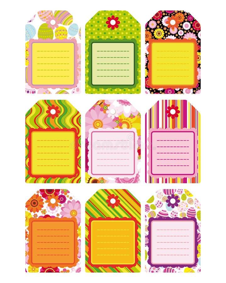 Insieme di Pasqua della modifica, contrassegno, elementi di disegno. illustrazione di stock