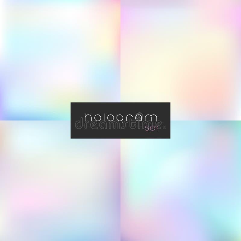 Insieme di pendenza della luce di vettore dell'ologramma fotografie stock libere da diritti