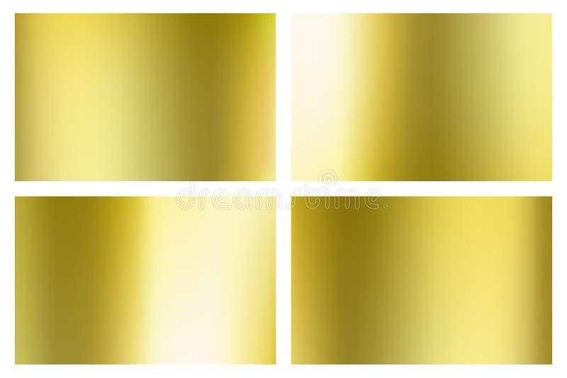 Insieme di pendenza della maglia dell'oro Illustrazione di vettore per la vostra acqua dolce di design royalty illustrazione gratis